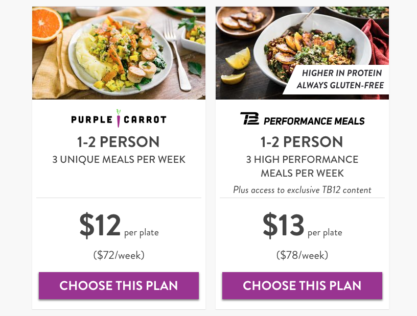 Purple Carrot pricing