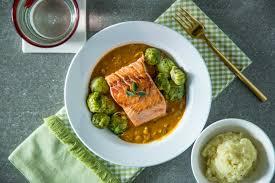 trifecta salmon dish